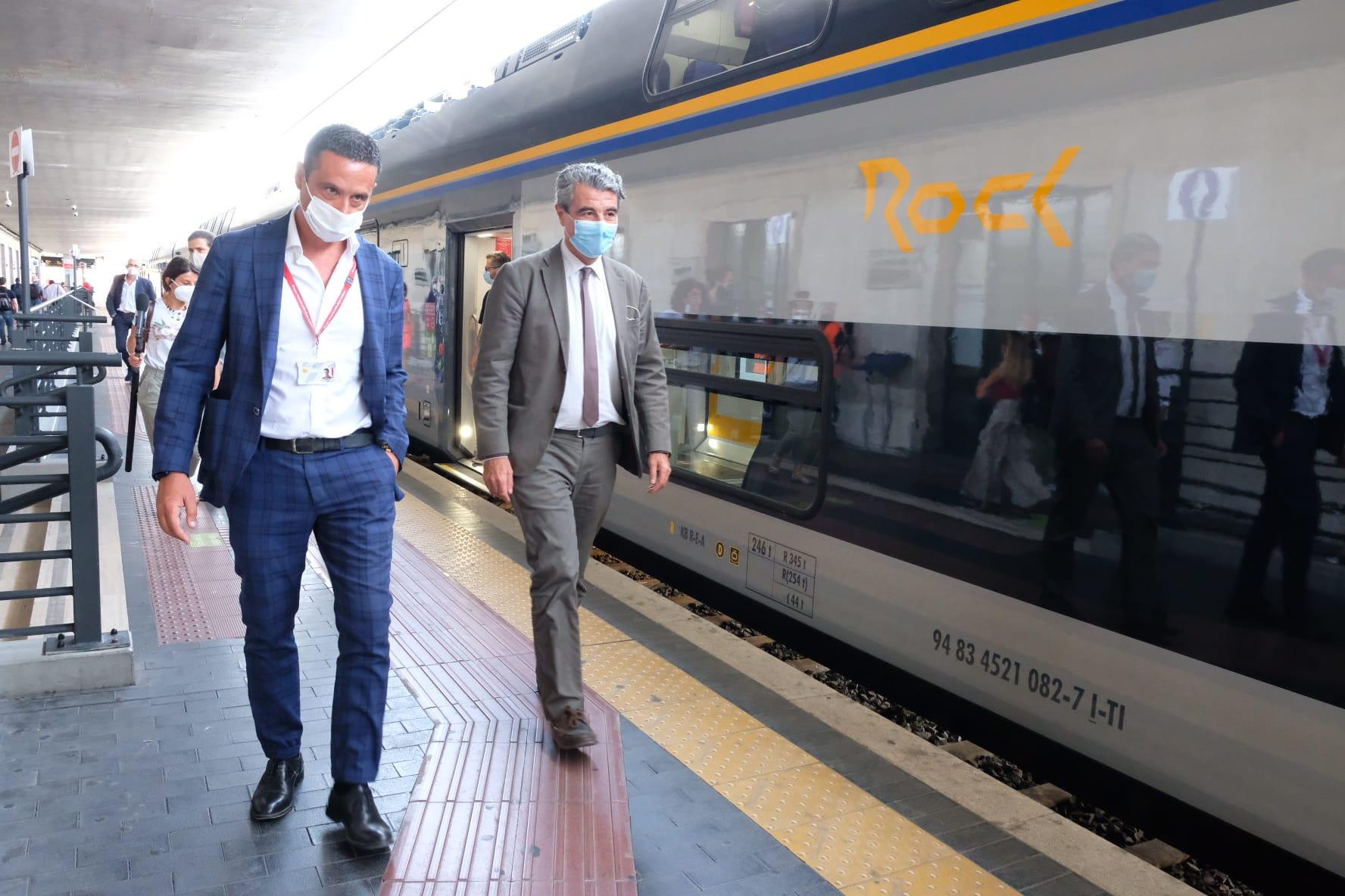 Rinnovo treni regionali, entra in servizio l'ottavo Rock