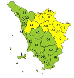 Neve e vento, codice giallo su appennino tosco-emiliano e valli di Arno e Ombrone pistoiese e Valtiberina