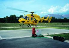 Un elicottero del 118 in partenza per Rieti