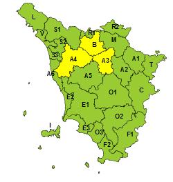 Maltempo: codice giallo per vento da stanotte per 24 ore, nel fiorentino e nel pistoiese