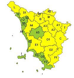 Maltempo, codice giallo per vento e neve