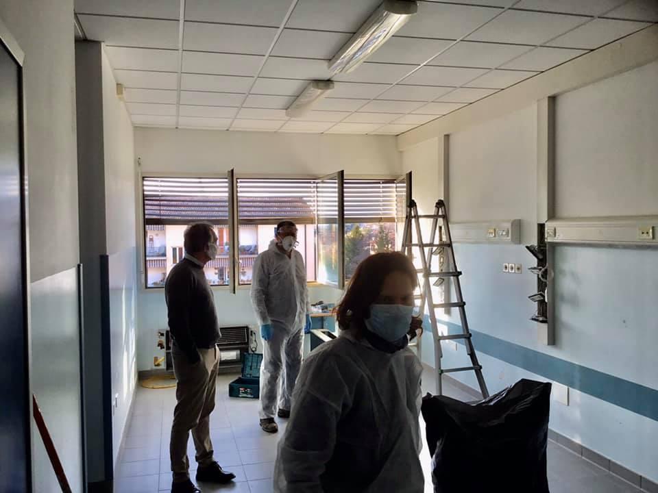 Coronavirus, sopralluoghi di Rossi alle future terapie intensive aggiuntive di Pisa e Lucca