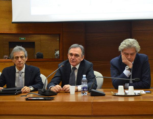 Da sinistra, Enrico Desideri, Enrico Rossi e Luigi Marroni