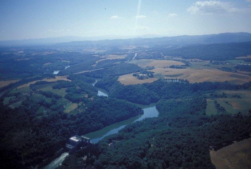 La diga di Levane sul fiume Arno