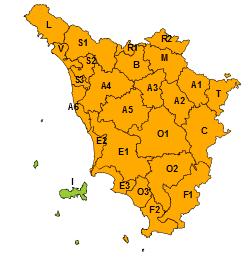 Ghiaccio, codice arancione su tutta la Toscana per calo brusco delle temperature