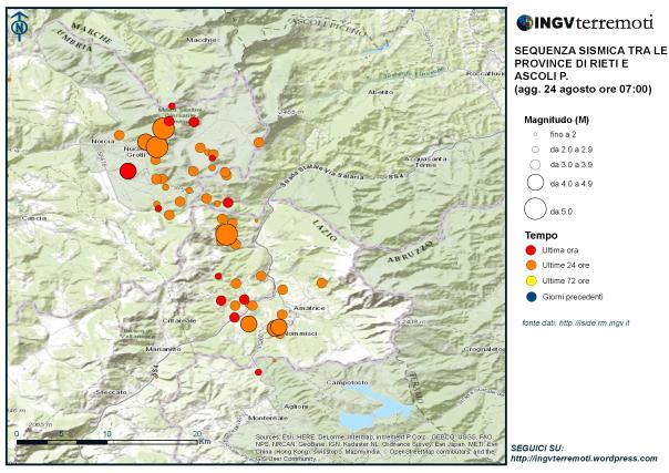 Terremoto con la stessa intensità del sisma che colpì l'Aquila nel 2009