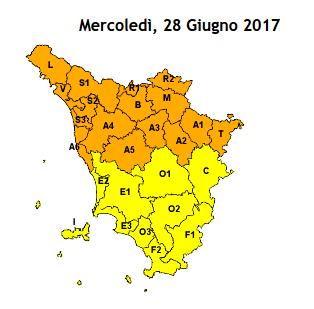 ALLERTA METEO PER TEMPORALI FORTI CODICE ARANCIO