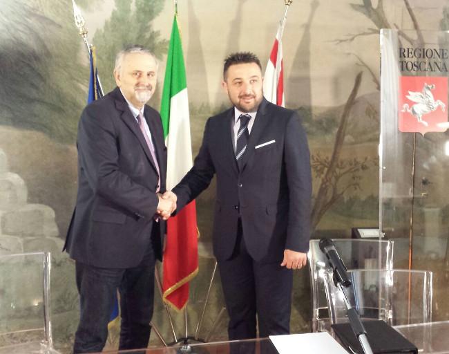 L'assessore Ceccarelli e il sindaco Bettollini