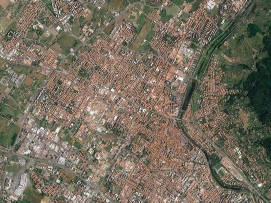 Prato, veduta aerea