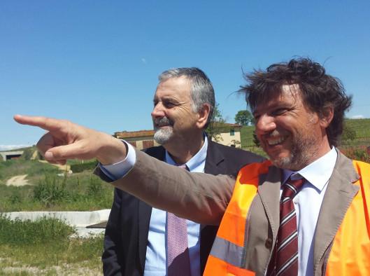 L'assessore Ceccarelli e il commissario Annunziati