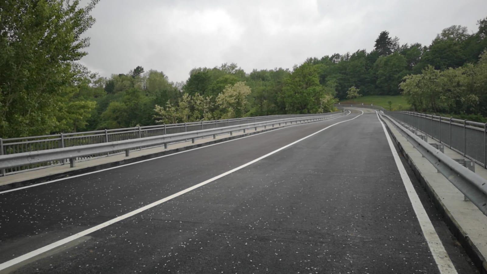 Il ponte di Santa Giustina dopo i lavori di ripristino e messa in sicurezza