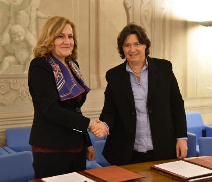 Stefania Saccardi con Alessandra Rosa di Aci