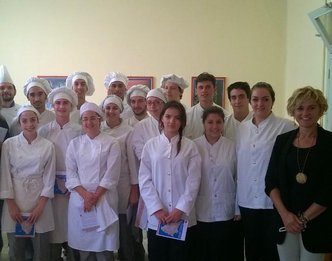 Studenti dell'Alberghiero Mattei di Rosignano