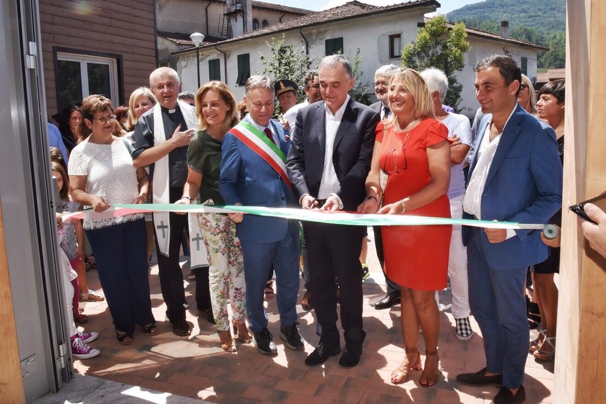L'inaugurazione delle scuole di Aulla